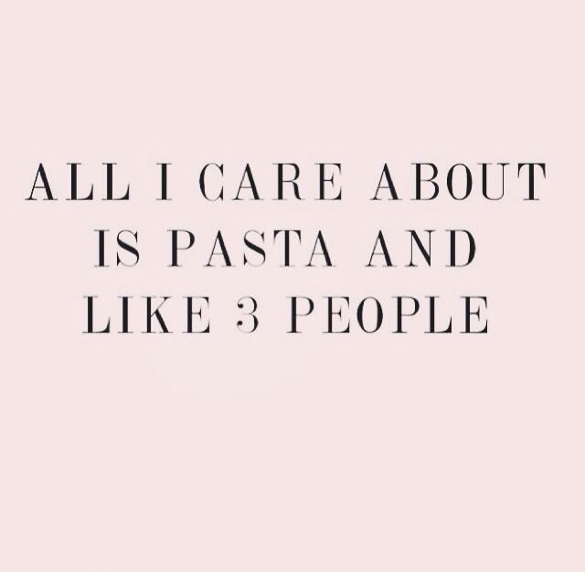 pasta and people