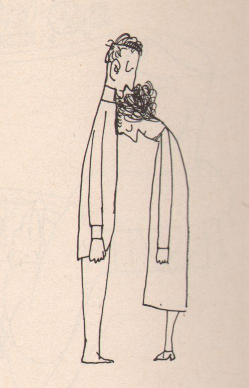 saul steinberg, %22Kiss%22 1959