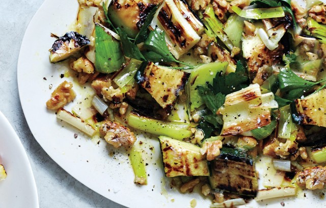 grilled-zucchini-and-leeks-with-walnuts-and-herbs-940x600